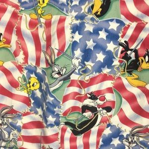 42dcce0ac24 Looney Tunes Tops - Looney Tunes Patriotic Scrub Top